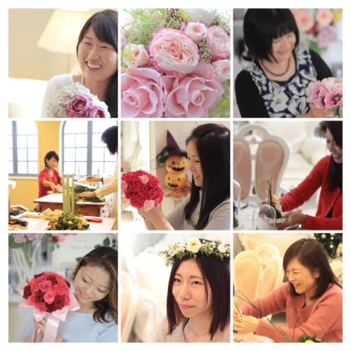 お花で笑顔